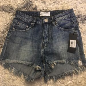 Brand new One Teaspoon high waisted Bonita shorts